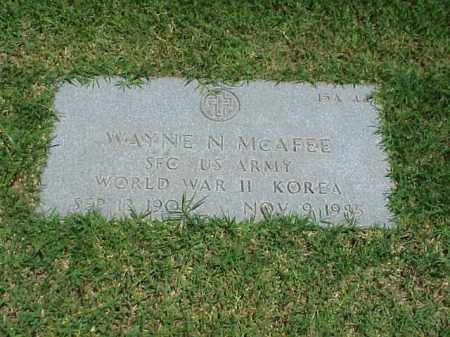MCAFEE (VETERAN 2 WARS), WAYNE N - Pulaski County, Arkansas | WAYNE N MCAFEE (VETERAN 2 WARS) - Arkansas Gravestone Photos