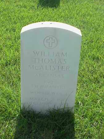 MCALISTER (VETERAN WWI), WILLIAM THOMAS - Pulaski County, Arkansas | WILLIAM THOMAS MCALISTER (VETERAN WWI) - Arkansas Gravestone Photos