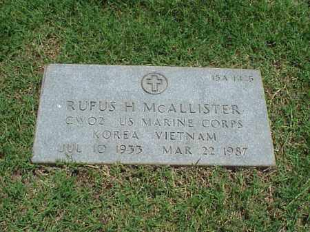 MCALLISTER (VETERAN 2 WARS), RUFUS H - Pulaski County, Arkansas | RUFUS H MCALLISTER (VETERAN 2 WARS) - Arkansas Gravestone Photos