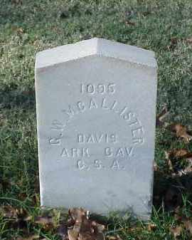 MCALLISTER (VETERAN CSA), G W - Pulaski County, Arkansas | G W MCALLISTER (VETERAN CSA) - Arkansas Gravestone Photos