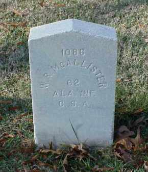 MCALLISTER (VETERAN CSA), W R - Pulaski County, Arkansas | W R MCALLISTER (VETERAN CSA) - Arkansas Gravestone Photos