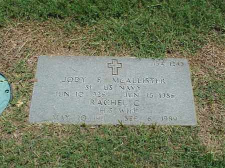MCALLISTER (VETERAN WWII), JODY E - Pulaski County, Arkansas | JODY E MCALLISTER (VETERAN WWII) - Arkansas Gravestone Photos