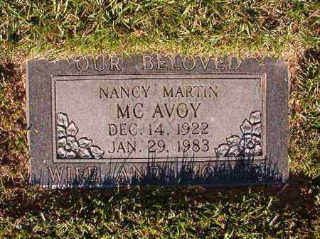 MARTIN MCAVOY, NANCY - Pulaski County, Arkansas | NANCY MARTIN MCAVOY - Arkansas Gravestone Photos