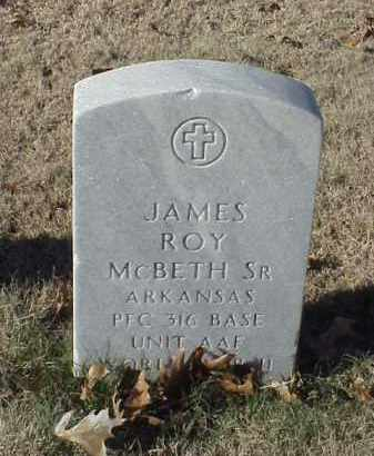 MCBETH, SR (VETERAN WWII), JAMES ROY - Pulaski County, Arkansas | JAMES ROY MCBETH, SR (VETERAN WWII) - Arkansas Gravestone Photos
