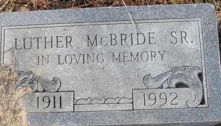 MCBRIDE SR, LUTHER - Pulaski County, Arkansas | LUTHER MCBRIDE SR - Arkansas Gravestone Photos