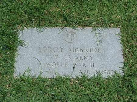 MCBRIDE (VETERAN WWII), LEROY - Pulaski County, Arkansas | LEROY MCBRIDE (VETERAN WWII) - Arkansas Gravestone Photos