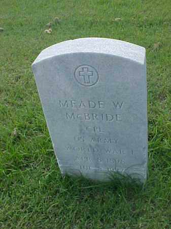 MCBRIDE (VETERAN WWI), MEADE W - Pulaski County, Arkansas | MEADE W MCBRIDE (VETERAN WWI) - Arkansas Gravestone Photos