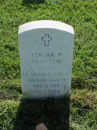 MCBRYDE (VETERAN WWII), EDGAR P - Pulaski County, Arkansas | EDGAR P MCBRYDE (VETERAN WWII) - Arkansas Gravestone Photos