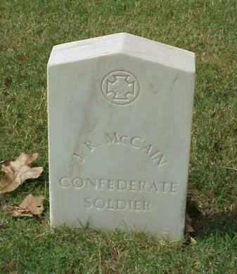 MCCAIN (VETERAN CSA), J R - Pulaski County, Arkansas | J R MCCAIN (VETERAN CSA) - Arkansas Gravestone Photos