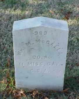 MCCALLA (VETERAN CSA), WILLIAM M - Pulaski County, Arkansas | WILLIAM M MCCALLA (VETERAN CSA) - Arkansas Gravestone Photos