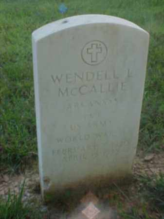 MCCALLIE (VETERAN WWII), WENDELL L - Pulaski County, Arkansas | WENDELL L MCCALLIE (VETERAN WWII) - Arkansas Gravestone Photos