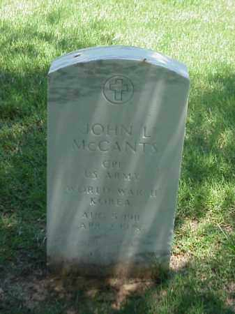MCCANTS (VETERAN 2 WARS), JOHN L - Pulaski County, Arkansas | JOHN L MCCANTS (VETERAN 2 WARS) - Arkansas Gravestone Photos