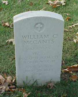MCCANTS (VETERAN WWII), WILLIAM C - Pulaski County, Arkansas | WILLIAM C MCCANTS (VETERAN WWII) - Arkansas Gravestone Photos