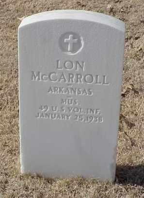 MCCARROLL (VETERAN SAW), LON - Pulaski County, Arkansas | LON MCCARROLL (VETERAN SAW) - Arkansas Gravestone Photos