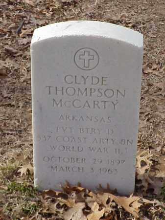 MCCARTY (VETERAN WWII), CLYDE THOMPSON - Pulaski County, Arkansas | CLYDE THOMPSON MCCARTY (VETERAN WWII) - Arkansas Gravestone Photos