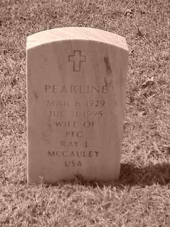 MCCAULEY, PEARLINE - Pulaski County, Arkansas | PEARLINE MCCAULEY - Arkansas Gravestone Photos