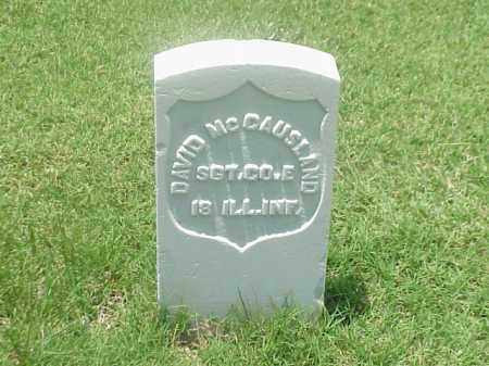 MCCAUSLAND (VETERAN UNION), DAVID - Pulaski County, Arkansas | DAVID MCCAUSLAND (VETERAN UNION) - Arkansas Gravestone Photos