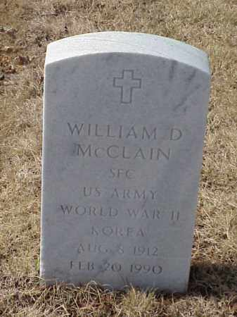 MCCLAIN (VETERAN 2 WARS), WILLIAM D - Pulaski County, Arkansas | WILLIAM D MCCLAIN (VETERAN 2 WARS) - Arkansas Gravestone Photos