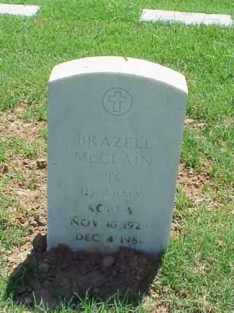 MCCLAIN (VETERAN KOR), BRAZELL - Pulaski County, Arkansas | BRAZELL MCCLAIN (VETERAN KOR) - Arkansas Gravestone Photos