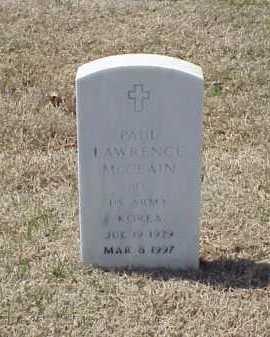 MCCLAIN (VETERAN KOR), PAUL LAWRENCE - Pulaski County, Arkansas | PAUL LAWRENCE MCCLAIN (VETERAN KOR) - Arkansas Gravestone Photos