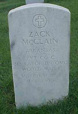 MCCLAIN (VETERAN WWI), ZACK - Pulaski County, Arkansas | ZACK MCCLAIN (VETERAN WWI) - Arkansas Gravestone Photos
