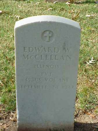 MCCLELLAN (VETERAN SAW), EDWARD W - Pulaski County, Arkansas | EDWARD W MCCLELLAN (VETERAN SAW) - Arkansas Gravestone Photos