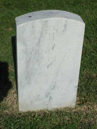 MCCLINTON (VETERAN WWII), ERNEST J - Pulaski County, Arkansas | ERNEST J MCCLINTON (VETERAN WWII) - Arkansas Gravestone Photos
