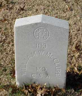 MCCLURE (VETERAN CSA), WILLIAM W - Pulaski County, Arkansas | WILLIAM W MCCLURE (VETERAN CSA) - Arkansas Gravestone Photos