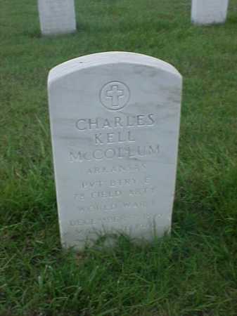 MCCOLLUM (VETERAN WWI), CHARLES KELL - Pulaski County, Arkansas | CHARLES KELL MCCOLLUM (VETERAN WWI) - Arkansas Gravestone Photos