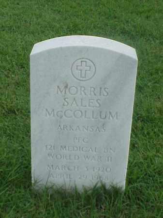 MCCOLLUM (VETERAN WWII), MORRIS SALES - Pulaski County, Arkansas | MORRIS SALES MCCOLLUM (VETERAN WWII) - Arkansas Gravestone Photos