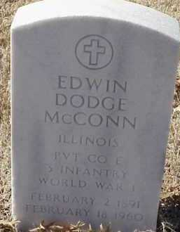 MCCONN  (VETERAN WWI), EDWIN DODGE - Pulaski County, Arkansas | EDWIN DODGE MCCONN  (VETERAN WWI) - Arkansas Gravestone Photos