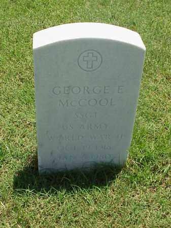 MCCOOL (VETERAN WWII), GEORGE E - Pulaski County, Arkansas | GEORGE E MCCOOL (VETERAN WWII) - Arkansas Gravestone Photos