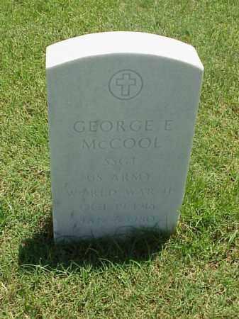MCCOOL (VETERAN WWII), GEORGE E - Pulaski County, Arkansas | GEORGE E MCCOOL (VETERAN WWII) - Arkansas Gravestone Photos