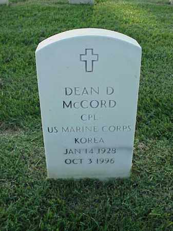 MCCORD (VETERAN KOR), DEAN D - Pulaski County, Arkansas | DEAN D MCCORD (VETERAN KOR) - Arkansas Gravestone Photos