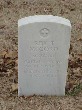 MCCORD (VETERAN WWI), REX T - Pulaski County, Arkansas | REX T MCCORD (VETERAN WWI) - Arkansas Gravestone Photos