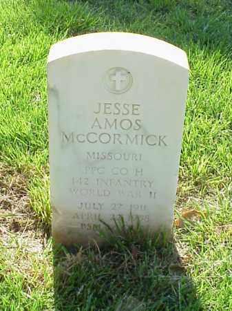 MCCORMICK (VETERAN WWII), JESSE AMOS - Pulaski County, Arkansas | JESSE AMOS MCCORMICK (VETERAN WWII) - Arkansas Gravestone Photos