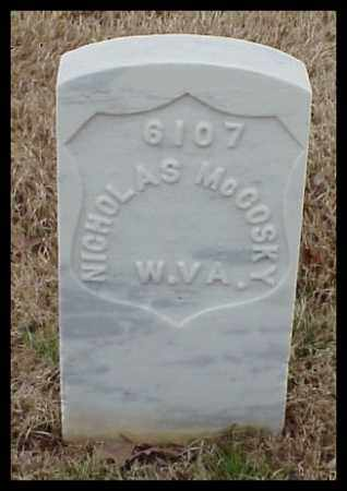 MCCOSKY (VETERAN UNION), NICHOLAS - Pulaski County, Arkansas | NICHOLAS MCCOSKY (VETERAN UNION) - Arkansas Gravestone Photos