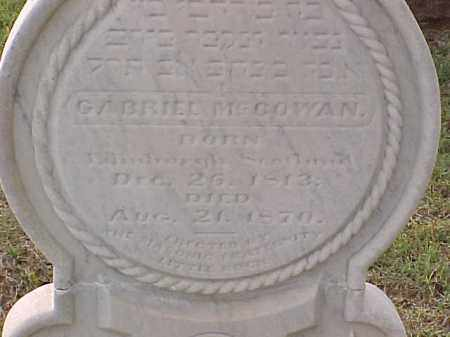 MCCOWAN, GABRIEL (CLOSE UP) - Pulaski County, Arkansas | GABRIEL (CLOSE UP) MCCOWAN - Arkansas Gravestone Photos