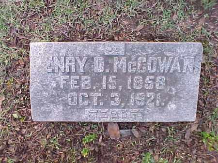 MCCOWAN, HENRY D - Pulaski County, Arkansas | HENRY D MCCOWAN - Arkansas Gravestone Photos