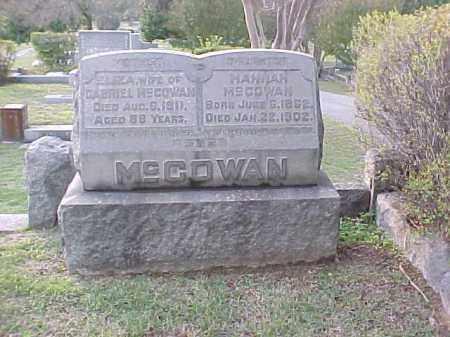 MCCOWAN, HANNAH - Pulaski County, Arkansas | HANNAH MCCOWAN - Arkansas Gravestone Photos