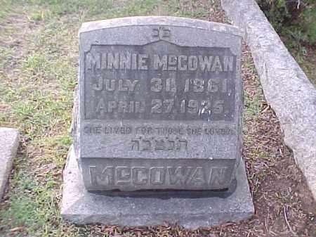 MCCOWAN, MINNIE - Pulaski County, Arkansas | MINNIE MCCOWAN - Arkansas Gravestone Photos