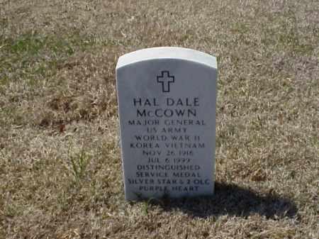 MCCOWN (VETERAN 3 WARS), HAL DALE - Pulaski County, Arkansas | HAL DALE MCCOWN (VETERAN 3 WARS) - Arkansas Gravestone Photos