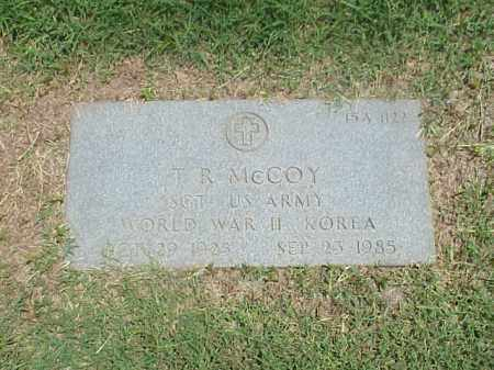 MCCOY (VETERAN 2 WARS), T R - Pulaski County, Arkansas | T R MCCOY (VETERAN 2 WARS) - Arkansas Gravestone Photos