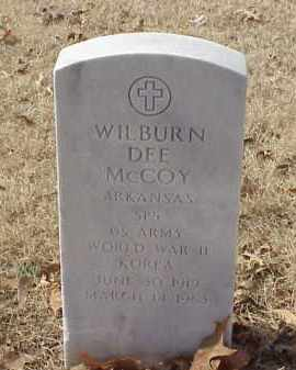 MCCOY (VETERAN 2 WARS), WILBURN DEE - Pulaski County, Arkansas | WILBURN DEE MCCOY (VETERAN 2 WARS) - Arkansas Gravestone Photos