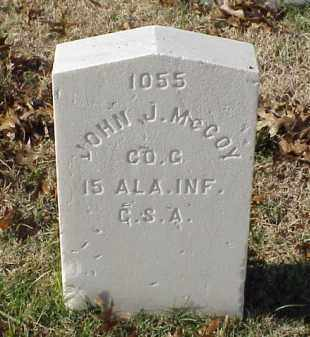 MCCOY (VETERAN CSA), JOHN J - Pulaski County, Arkansas | JOHN J MCCOY (VETERAN CSA) - Arkansas Gravestone Photos