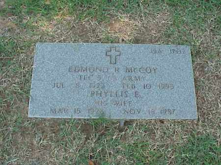 MCCOY, PHYLLIS E - Pulaski County, Arkansas | PHYLLIS E MCCOY - Arkansas Gravestone Photos