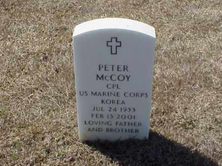 MCCOY (VETERAN KOR), PETER - Pulaski County, Arkansas | PETER MCCOY (VETERAN KOR) - Arkansas Gravestone Photos