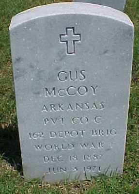 MCCOY (VETERAN WWI), GUS - Pulaski County, Arkansas | GUS MCCOY (VETERAN WWI) - Arkansas Gravestone Photos