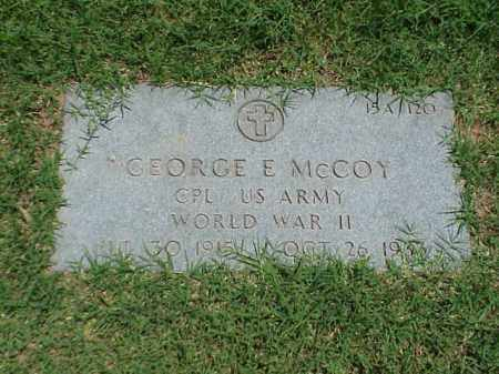 MCCOY (VETERAN WWII), GEORGE E - Pulaski County, Arkansas | GEORGE E MCCOY (VETERAN WWII) - Arkansas Gravestone Photos