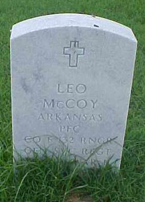 MCCOY (VETERAN WWII), LEO - Pulaski County, Arkansas | LEO MCCOY (VETERAN WWII) - Arkansas Gravestone Photos